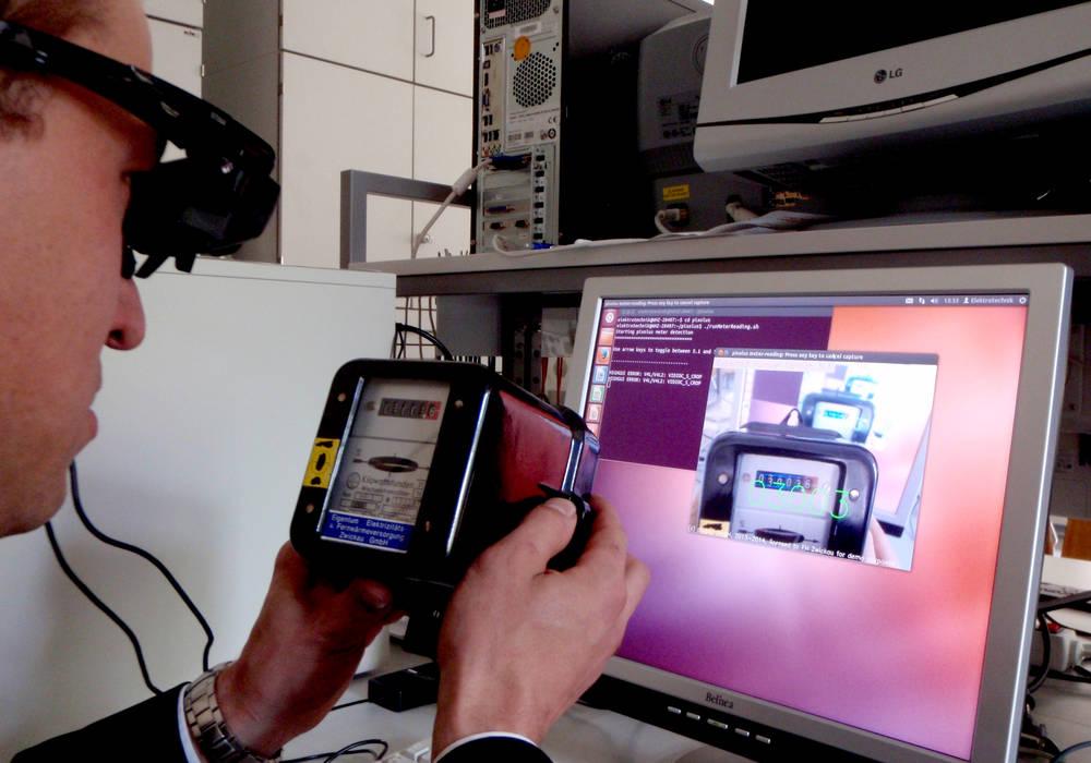 Demo unserer Erkennungssoftware auf der Datenbrille