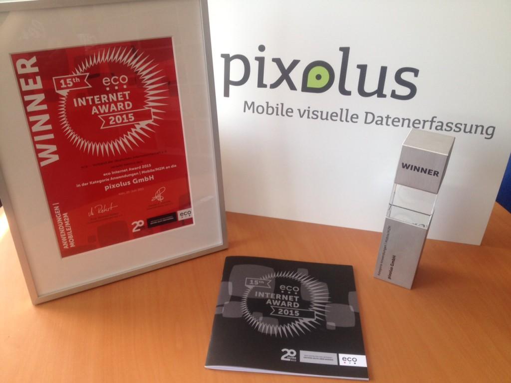 eco Award 2015 für pixometer von pixolus